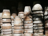 Stacked Clay Pots, Parma, Italy Photographic Print by Gina Martin