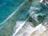 Turquoise Waves Breaking Off Shore, Eastern Zanzibar Photographic Print by Michael Fay