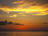 Sunset on Horizon of Caribbean Sky with Clouds Photographic Print by James Forte