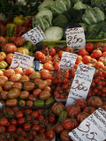 Vegetables at an Outdoor Market, Parma, Italy Photographic Print by Gina Martin