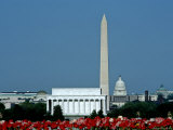 Scenic View of Washington D.C. Monuments, Washington, D.C. Photographic Print by Kenneth Garrett