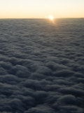 Sunrise at 35,000 Feet Enroute to Europe on a Passenger Airliner Photographic Print by Bill Hatcher