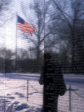 The American Flag Reflects into the Vietnam Memorial, Washington, D.C. Photographic Print by Stacy Gold