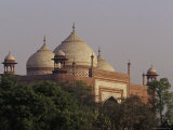 The Domes of the Taj Mahal Mosque Rise above the Garden Canopy, Agra, India Photographic Print by Jason Edwards