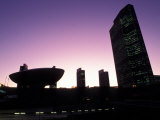 Silhouetted Empire State Plaza at Night in Albany, New York Photographic Print by Richard Nowitz