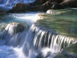 Traverten Water Fall Below Havasu Falls Photographic Print by Bill Hatcher