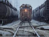 Train on the Tracks Photographic Print by Kenneth Garrett