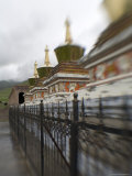Stupas at a Buddhist Monastery, Qinghai, China Photographic Print by David Evans