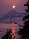 Tappen Zee Bridge at Sunset over the Hudson River in Terrytown, New York Photographic Print by Richard Nowitz