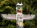 Totem Pole in Stanley Park Photographic Print by Tim Laman
