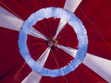 The Inflated Red Canopy of a Hot Air Balloon with the Blue Sky Behind, Australia Photographic Print by Jason Edwards
