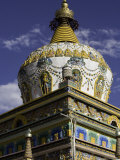 Temple Stupa, Buddhist Monastery, Qinghai Province, China Photographic Print by David Evans