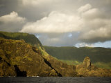 Storm Clouds Rolling in over Hiva Oa Island, French Polynesia Photographic Print by Tim Laman