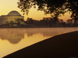 The Jefferson Memorial Reflected in the Tidal Basin at Dusk, Washington, D.C. Photographic Print by Kenneth Garrett