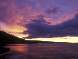 Sunset over Babine Lake at Burns Lake Photographic Print by Rich Reid