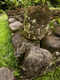 Stone Platform at Polynesian Archaeological Site on Hiva Oa Island, French Polynesia Photographic Print by Tim Laman