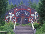 Saxman Totem Park Communal House, Alaska Photographic Print by Rich Reid