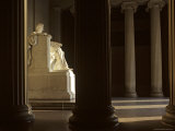Sunlight Casts Shadows on the Lincoln Memorial, Washington, D.C. Photographic Print by Kenneth Garrett