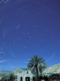 Startrails Around the Polaris and Full Moon Photographic Print by Rich Reid