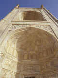 Taj Mahal Giant Archway with Pietra Dura Marble Inlay and Carving, Agra, India Photographic Print by Jason Edwards