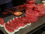 Sliced Watermellon Sold on the Street, Mexico Photographic Print by Gina Martin