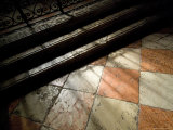 Shadows of an Iron Fence Fall on the Marble Floor of the Frari Church, Venice, Italy Photographic Print by Todd Gipstein
