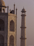 The Taj Mahal and One of It's Massive Marble Minarets at Dawn, Agra, India Photographic Print by Jason Edwards