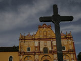 The Cross and Cathedral in San Cristobal de Las Casas, Mexico Photographic Print by Gina Martin