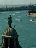View from Campanile of San Giorgio Atop the Dome of the Church, Venice, Italy Photographic Print by Todd Gipstein