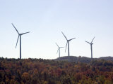Wind Turbines on the Mountainous Hills near Somerset, Pennsylvania Photographic Print by Stacy Gold