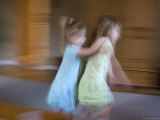 Sisters Play Indoors, Chevy Chase, Maryland Photographic Print by Stacy Gold