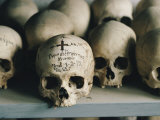 The Inscribed Skull of a Priest at St. Anne's Monastic Community Photographic Print by James L. Stanfield