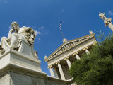 Statue of Socrates in Front of the Athens Academy, Greece Photographic Print by Richard Nowitz