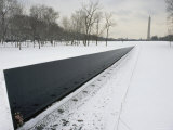 Vietnam Veterans Memorial in Winter Photographic Print by James P. Blair