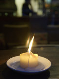 Single Candle Flame, Defocussed Background, Copenhagen, Denmark Photographic Print by  Brimberg & Coulson