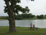 Two Siblings by the Lake at a Scout Camp near Humbolt, Ne Photographic Print by Joel Sartore