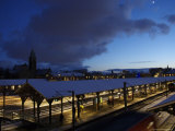 Train Station at Dusk, Copenhagen, Denmark Photographic Print by  Brimberg & Coulson