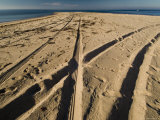 Tire Tracks Leading to the North Point of Block Island, Rhode Island Photographic Print by Todd Gipstein