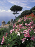 Villa Rufolo and Wagner Terrace Gardens Ravello, Amalfi Coast, Italy Photographic Print by Richard Nowitz