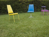 Three Chairs Sitting on Lawn, California Photographic Print by James Forte