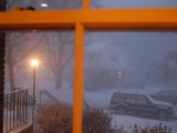 Snow Storm Through a House Window, Chevy Chase, Maryland Photographic Print by Stacy Gold