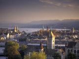 View of Zurich, Switzerland from Hotel Zurich Impresso fotogrfica por Richard Nowitz