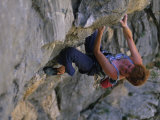 Woman Rock Climbing in Paklenica National Park, Croatia Photographic Print by Bobby Model