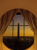 Washington Monument from Inside a Hotel Room, Washington, D.C. Photographic Print by Kenneth Garrett