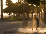 Washing Away the Salt Water after an Afternoon at Surfer's Point, Ventura, California Photographic Print by Michael S. Lewis