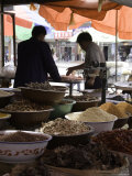 Two Men at Local Food Market, Qinghai, China Photographic Print by David Evans