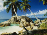 Scenic View of the Tropical Island of la Digue in the Seychelles Photographie par Bill Curtsinger