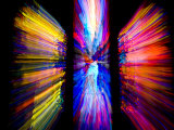 Stained Glass Windows Give Abstract Colors to a Motion Photo, Washington, D.C. Photographic Print by Stephen St. John