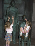 Two Children Play with Statues, Washington, D.C. Photographic Print by Stacy Gold