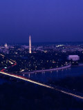 Washington D.C. at Night from Virginia, Washington, D.C. Photographic Print by Kenneth Garrett